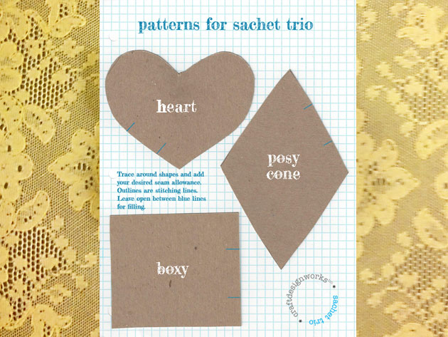 Sachets link to free pattern