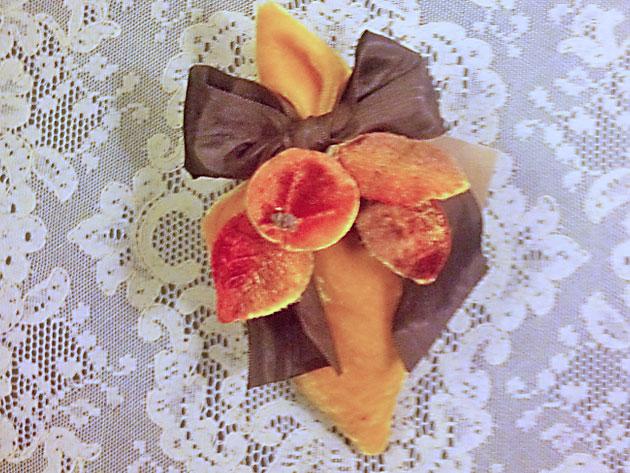 Velvet cone lavender sachet orange