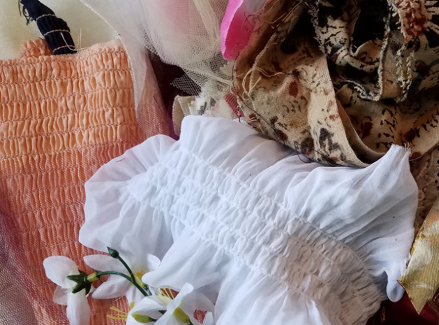 Costuming materials - Toymaking workshop 4/6/2019 Ragfinery