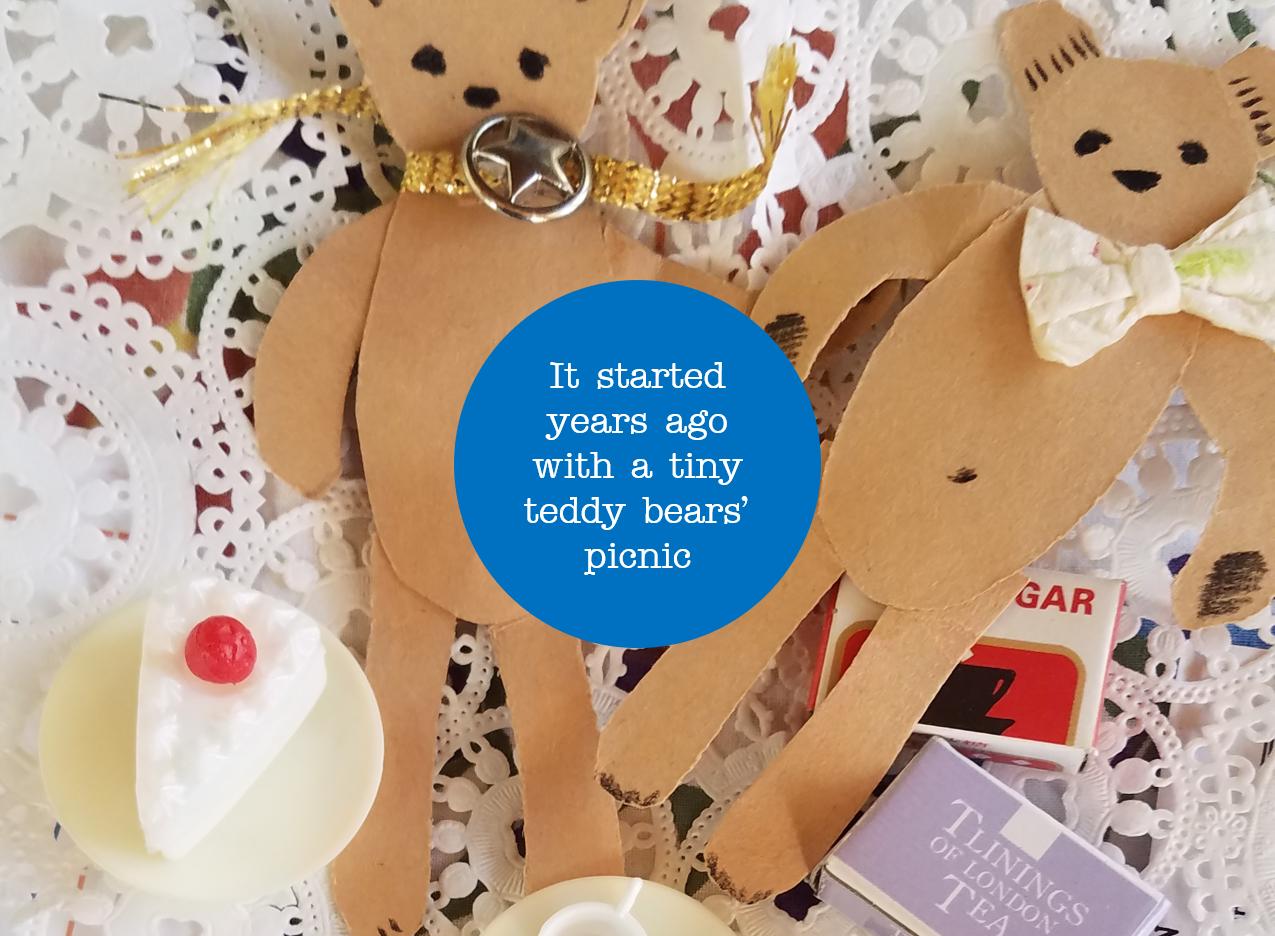 Paper toy--teddy bears' picnic -- craftdesignworks