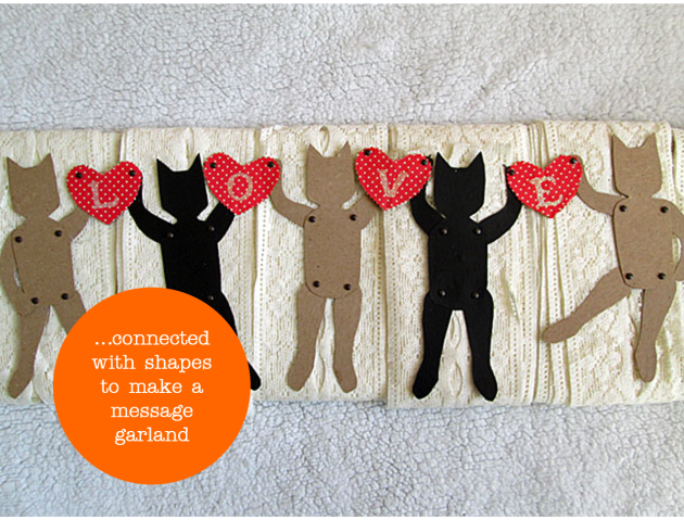Cat-garland from free pattern - craftdesignworks